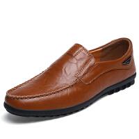 男士皮鞋正装韩版休闲真皮夏季镂空透气英伦商务黑色男鞋子新品