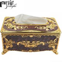 门扉 收纳盒 创意欧式风格抽纸盒大号纸巾盒家居日用多功能大容量整理储物盒