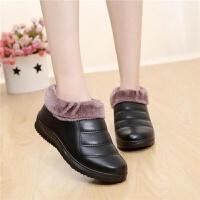 中老年冬季棉鞋女式保暖厚底妈妈鞋老人棉鞋加绒加厚奶奶鞋子棉靴