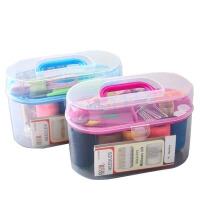 物有物语 针线盒套装 家用便携手缝衣服小针线包收纳盒 高档针线盒套装