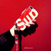 网红蓝光6s手机壳硅胶7plus软套iphonexs挂绳苹果8潮牌女 6/6s 4.7寸