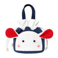 女生饭盒袋小手提包带饭包包韩版圆形清新午餐包便当包可斜挎背包