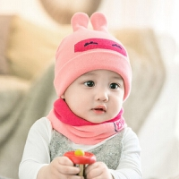 婴儿帽子秋冬天小孩毛线帽宝宝帽子儿童公主帽男女