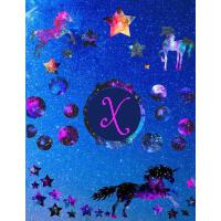 【预订】Starry Unicorns Notebook Monogram Series X: College Rule