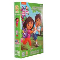 版朵拉dvd高清碟片爱探险的朵拉第5季5DVD儿童双语动画光盘