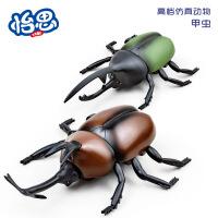 电动遥控高仿真昆虫 遥控甲虫直线爬行动物模型玩具