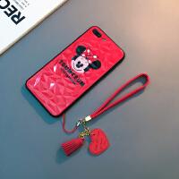 卡通米奇iphone6s plus手�C�ぬO果7/8日�n情�HXs Max保�o套XR女款 /s 4.7寸(米妮)