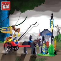启蒙城堡系列益智拼装哨卡模型拼插积木3周岁儿童玩具礼盒1016