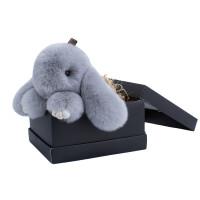 装死兔毛绒挂件小兔子包包挂饰品皮草可爱萌萌獭兔汽车钥匙扣