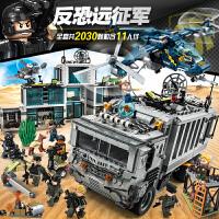 坦克飞机系列人仔益智力积木拼装玩具人偶特种兵积礼物