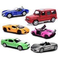 美致 合金车模 1 32 仿真汽车 声光回力 奔驰 兰博基尼 模型 儿童玩具汽车