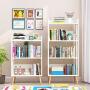 老睢坊 落地书架落地简约现代简易客厅置物架儿童学生实木组合创意收纳小书柜多功能书房储物柜子