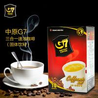 越南进口中原G7咖啡三合一经典原味速溶咖啡160克盒装(10小包)
