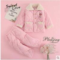 秋冬季法兰绒女童男童加厚款宝宝小孩子家居服男孩珊瑚绒儿童睡衣