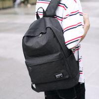 双肩包男士旅行背包男户外休闲USB充电中学生书包旅游电脑包轻便 9012黑色