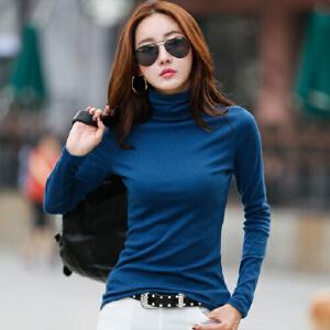 高领打底衫女长袖秋冬韩版修身显瘦大码长袖女t恤百搭上衣体恤衫WK0191