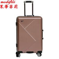 茉蒂菲莉 拉杆箱 2017男女铝框手拉行李箱男万向轮满额减旅游旅行密码箱子登机箱包