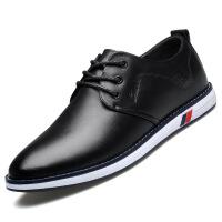 №【2019新款】新款男鞋加绒男士皮鞋韩版软面皮休闲鞋青年百搭鞋子