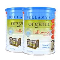 澳大利亚Bellamy's贝拉米有机婴儿牛奶粉2段(6-12个月宝宝)900g两罐装