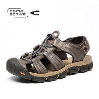 骆驼动感(camel active)夏季运动休闲户外男凉鞋魔术贴牛皮包头沙滩鞋
