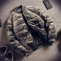 金丝绒棉衣男士外套冬季韩版潮流冬装潮牌2018新款面包服袄子