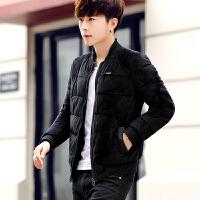 棉衣男秋冬男士短款韩版修身青年加厚棉袄学生潮流金丝绒外套