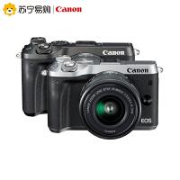 【苏宁易购】佳能微单相机照相机套机Canon EOS M6 EF-M 15-45mm IS STM