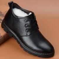 棉鞋男冬季加绒保暖高帮皮鞋羊毛冬天男鞋冬季男士棉皮鞋男鞋