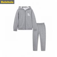 巴拉巴拉童装男童套装中大童儿童两件套秋装2017新款长袖卫衣裤子