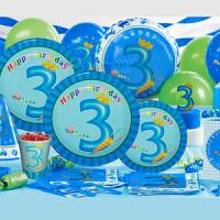 孩派 生日聚会用品 生日用品 儿童生日派对用品 三岁男孩主题系列