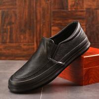 男鞋秋季男士休闲鞋休闲皮鞋懒人一脚蹬舒适百搭潮流青年英伦鞋子