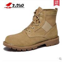 Z.Suo/走索男鞋马丁靴男冬季男靴子男士短靴军靴沙漠靴休闲鞋男ZS158