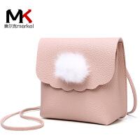 新款时尚秋冬毛毛包女包单肩斜跨小包包甜美可爱手机包