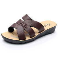 夏季妈妈拖鞋平底粗跟防滑耐磨中老年人凉拖鞋外穿老人鞋女士凉拖