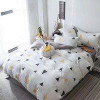20191107082857134水洗棉全棉素色床品四件套床上用品