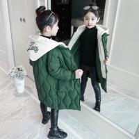 女童冬装2018新款韩版中长款洋气棉衣外套中大童儿童加厚棉袄