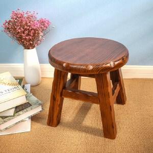 凳子 小凳子实木小圆凳子创意简约小板凳家用矮凳时尚换鞋凳小木凳子创意家具