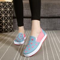 新款老北京女鞋鞋低帮鞋浅口一脚蹬学生鞋女单鞋