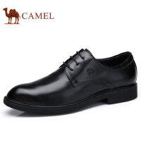 camel 骆驼男鞋秋季新品低帮鞋真皮系带鞋商务正装男士皮鞋