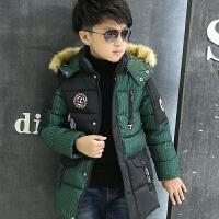 男童冬装外套学生男孩儿童棉袄