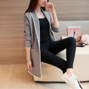 纤纯伊冬季新款韩版卫衣女中长款开衫宽松长袖外套