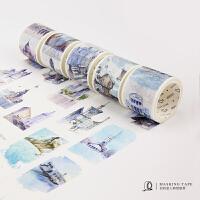 创意和纸胶带 全世界路过 旅行手绘国家建筑DIY日记装饰手账胶带