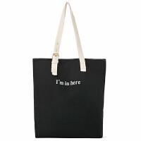 2018新款 韩版文艺小清新帆布包女单肩包简约百搭学生布袋包大容量手提袋潮