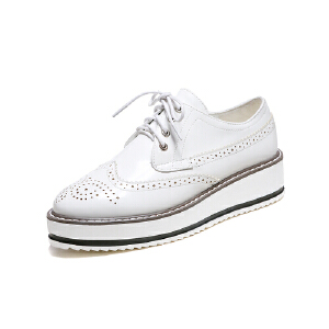 ELEISE美国艾蕾莎春季上新161-3286韩版松糕底女士单鞋