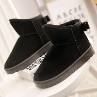 2019新款雪地靴女款学生韩版短靴短筒女士冬季加厚可爱防水棉鞋子 36 偏小一码