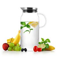 尚明耐热玻璃高温泡茶壶 果汁凉水壶大容量凉水杯玻璃冷水壶S063S066