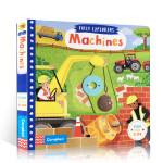 英文进口原版busy系列 First Explorers: Machines 幼儿机器启蒙纸板操作书 亲子互动阅读