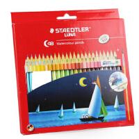 施德楼(Staedtler)12色/24色 48色水溶性彩色铅笔(赠画笔)