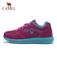 camel CAMEL骆驼女款运动鞋 反绒皮减震舒适时尚休闲鞋女士
