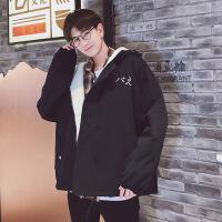 情侣装冬装2018新款韩版学生加厚保暖羊羔毛外套棉衣女冬季潮